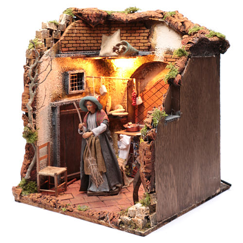 Neapolitan nativity scene moving housewife 24 cm 2
