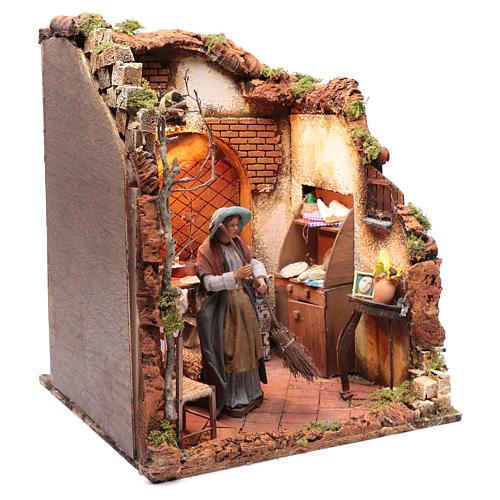 Neapolitan nativity scene moving housewife 24 cm 3