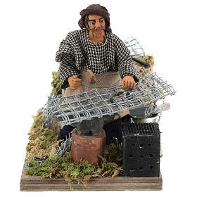 Moving blacksmith 10 cm Neapolitan Nativity Scene s1