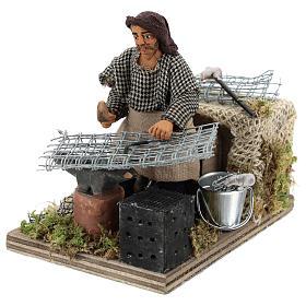 Moving blacksmith 10 cm Neapolitan Nativity Scene s3