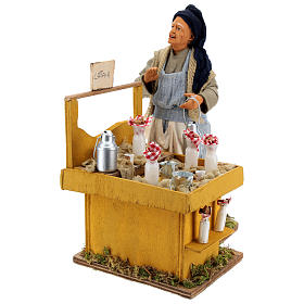 Moving milkmaid with stand and milk buckets 30 cm Neapolitan Nativity Scene s3