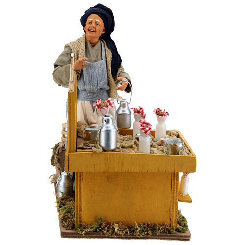 Moving milkmaid with stand and milk buckets 30 cm Neapolitan Nativity Scene 1