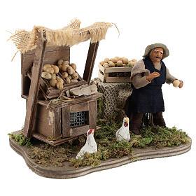 Moving egg seller Neapolitan Nativity Scene 10 cm s4