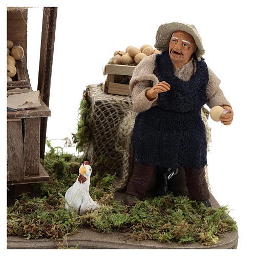 Moving egg seller Neapolitan Nativity Scene 10 cm 2