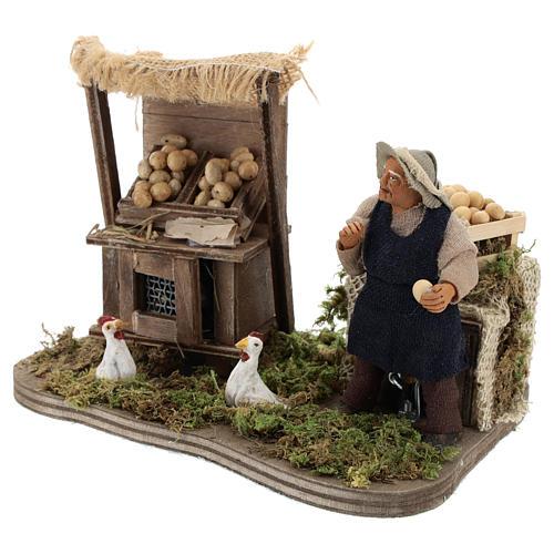 Moving egg seller Neapolitan Nativity Scene 10 cm 3