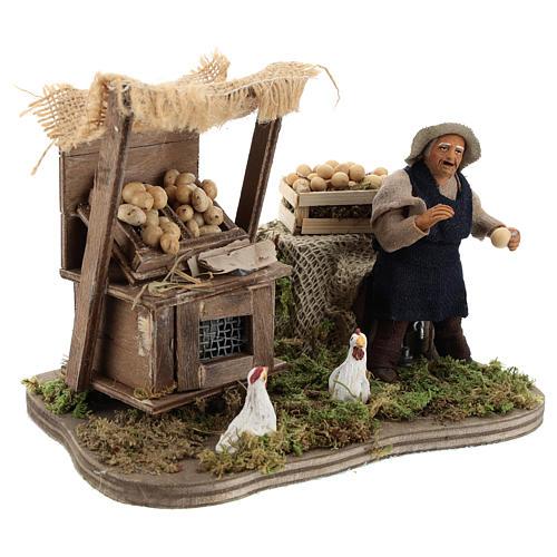 Moving egg seller Neapolitan Nativity Scene 10 cm 4