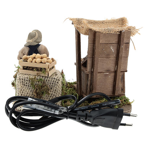 Moving egg seller Neapolitan Nativity Scene 10 cm 5