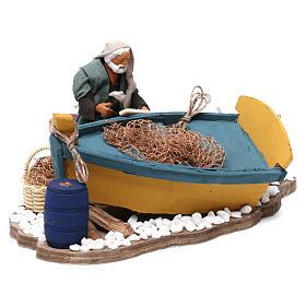 Movimento aggiusta barca presepe di Napoli 12 cm s4