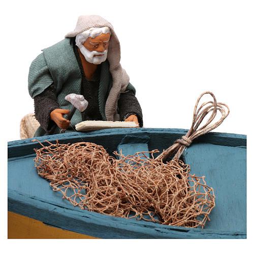 Movimento aggiusta barca presepe di Napoli 12 cm 2