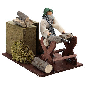 Woodcutter movement for 12 cm nativity scene s3