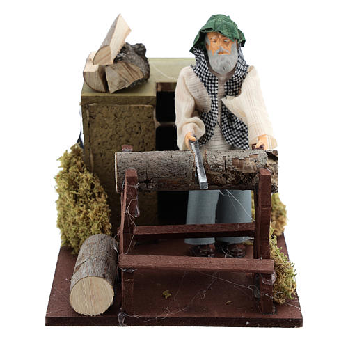 Woodcutter movement for 12 cm nativity scene 1