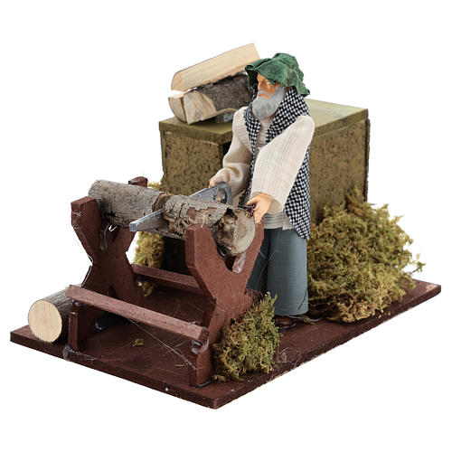 Woodcutter movement for 12 cm nativity scene 2