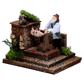 Man at the spit movement for 12 cm nativity scene s2