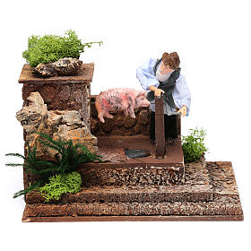 Man at the spit movement for 12 cm nativity scene s5