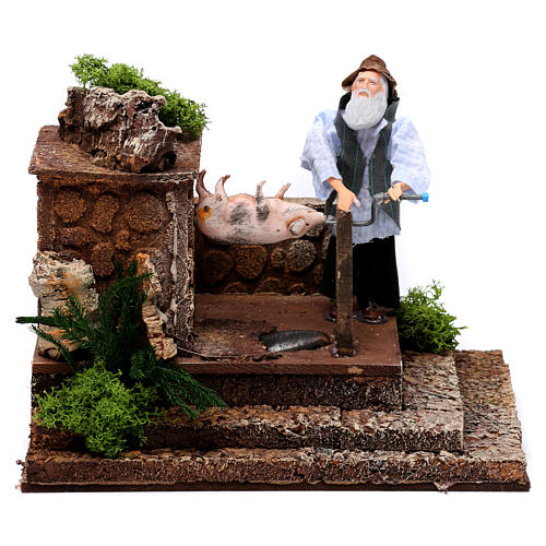 Man at the spit movement for 12 cm nativity scene 1
