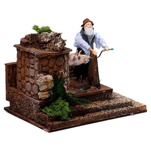 Man at the spit movement for 12 cm nativity scene 3