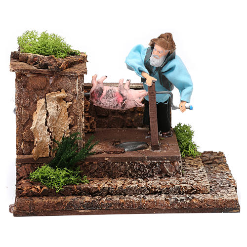 Man at the spit movement for 12 cm nativity scene 6