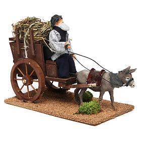 Farmer on cart movement for 12 cm nativity scene s3