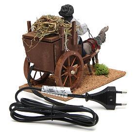 Farmer on cart movement for 12 cm nativity scene s4