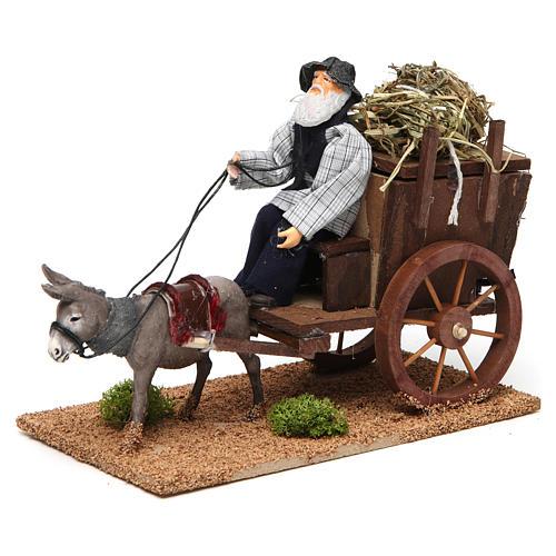 Farmer on cart movement for 12 cm nativity scene 2