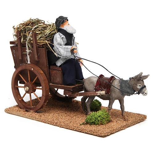 Farmer on cart movement for 12 cm nativity scene 3