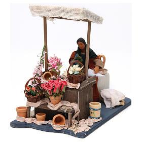 Florista en movimiento con mesa para belén napolitano de 12 cm de altura media s2