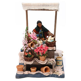 Moving Florist with Stand for Neapolitan nativity of 12 cm s1