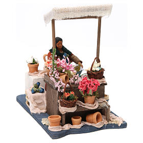 Moving Florist with Stand for Neapolitan nativity of 12 cm s3