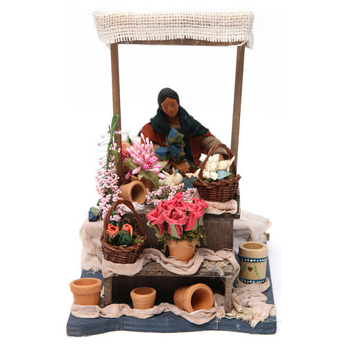 Moving Florist with Stand for Neapolitan nativity of 12 cm 1