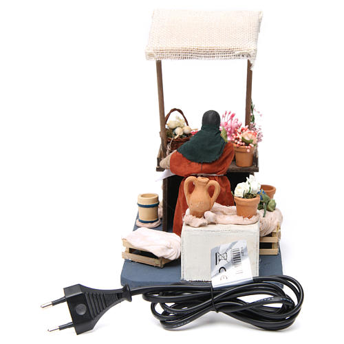 Moving Florist with Stand for Neapolitan nativity of 12 cm 4