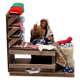 Moving seamstress with work bench Neapolitan Nativity Scene 12 cm s1