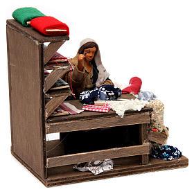 Moving seamstress with work bench Neapolitan Nativity Scene 12 cm s4