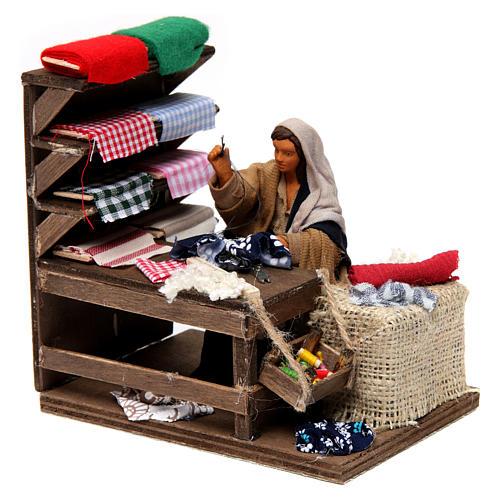 Moving seamstress with work bench Neapolitan Nativity Scene 12 cm 3