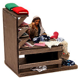 Moving Seamstress with Workstation for Neapolitan nativity of 12 cm s4