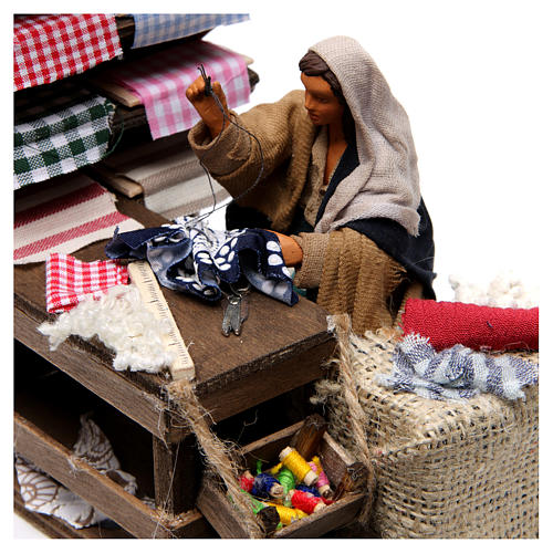 Moving Seamstress with Workstation for Neapolitan nativity of 12 cm 2