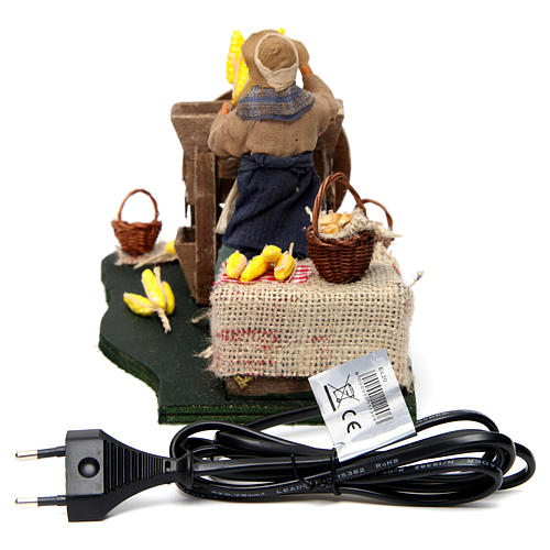 Moving Man with Corncobs for Neapolitan nativity of 12 cm 4