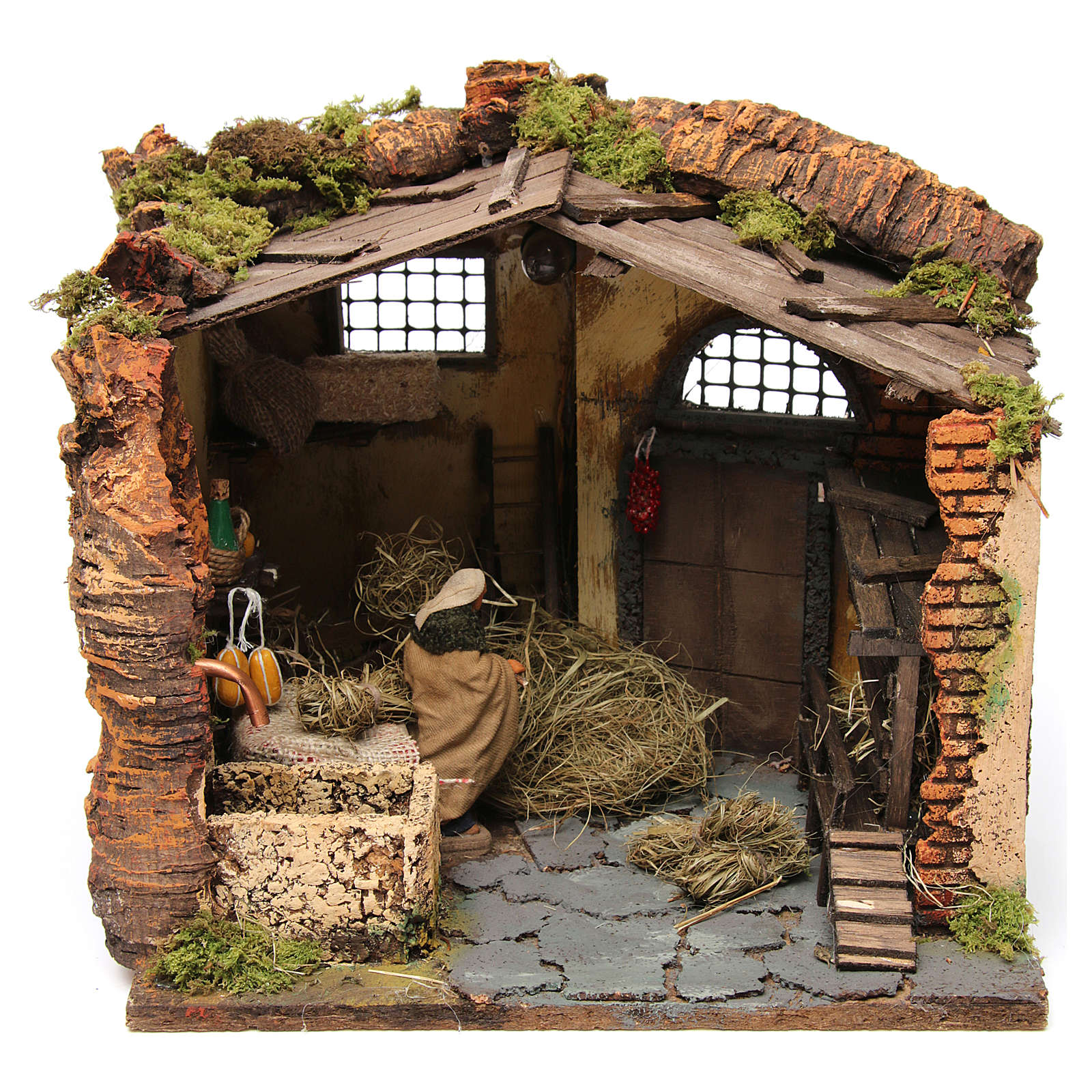 Farm Scene in a barn for 10 cm nativity 4