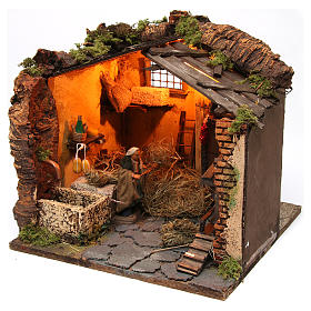 Farm Scene in a barn for 10 cm nativity s3