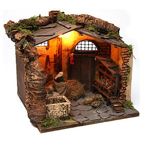 Farm Scene in a barn for 10 cm nativity s4