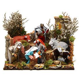 Figuras em Movimento para Presépio: Natividade de Jesus com Reis Magos movimento presépio figuras altura média 12 cm