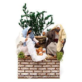 Santons animés crèche de Noël: Nativité en mouvement pour crèche 12 cm