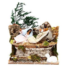 Animated Nativity Scenes:  Movable Nativity Scene 12 cm nativity