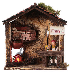 Animated Nativity Scenes: Moving innkeeper 10 cm and flickering light