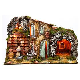 Figuras em Movimento para Presépio: Cena lavadeira movimento aldeia presépio figuras altura média 8-10 cm