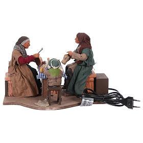 Moving family with child 24 cm for Neapolitan Nativity Scene s5