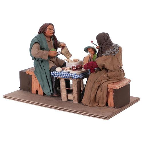 Moving family with child 24 cm for Neapolitan Nativity Scene 2