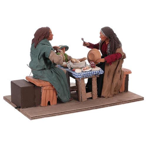 Moving family with child 24 cm for Neapolitan Nativity Scene 3