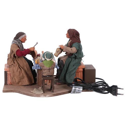 Moving family with child 24 cm for Neapolitan Nativity Scene 5
