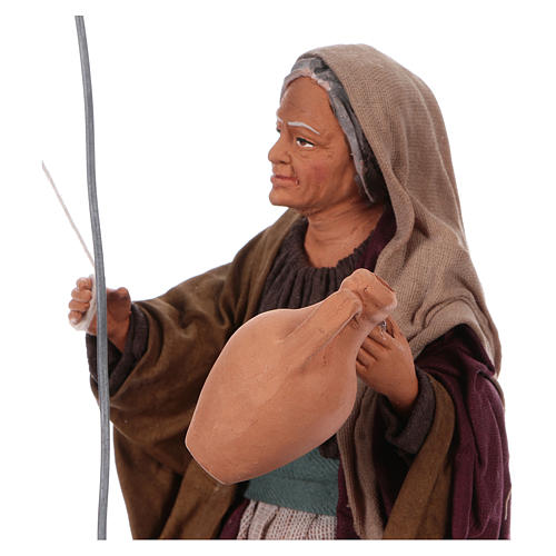 Moving woman fetching water from a well for 30 cm Nativity scene 2