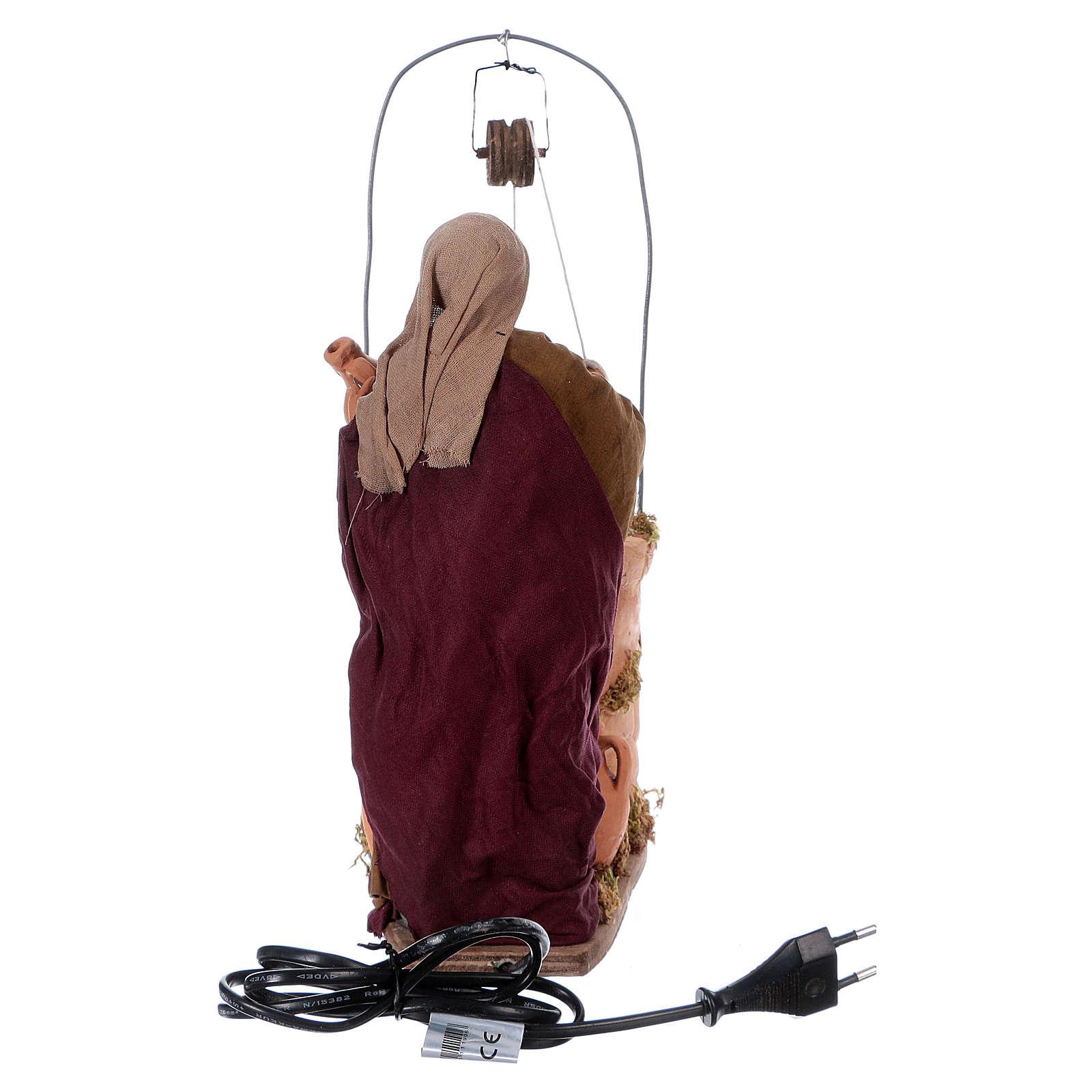 Mujer cerca del pozo 30 cm de altura media movimiento belén napolitano 4